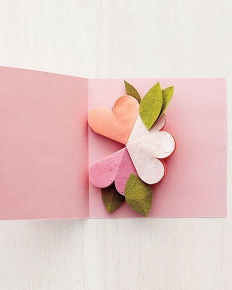 Гифки, цветы 3д открытка